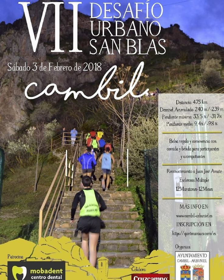 Abiertas inscripciones VII Desafío Urbano San Blas el Cambil.  http://ift.tt/2ENBEmX  #desafiourbanosanblas #jaenparaisointerior #cambil #running
