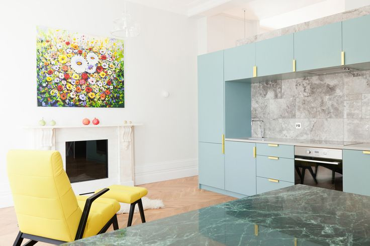 Colourful Pied-a-Terre in Westbourne Gardens, London by Nimtim | Yellowtrace