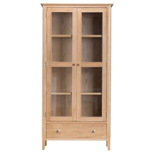 Cornsay Oak Display Cabinet | Oak World