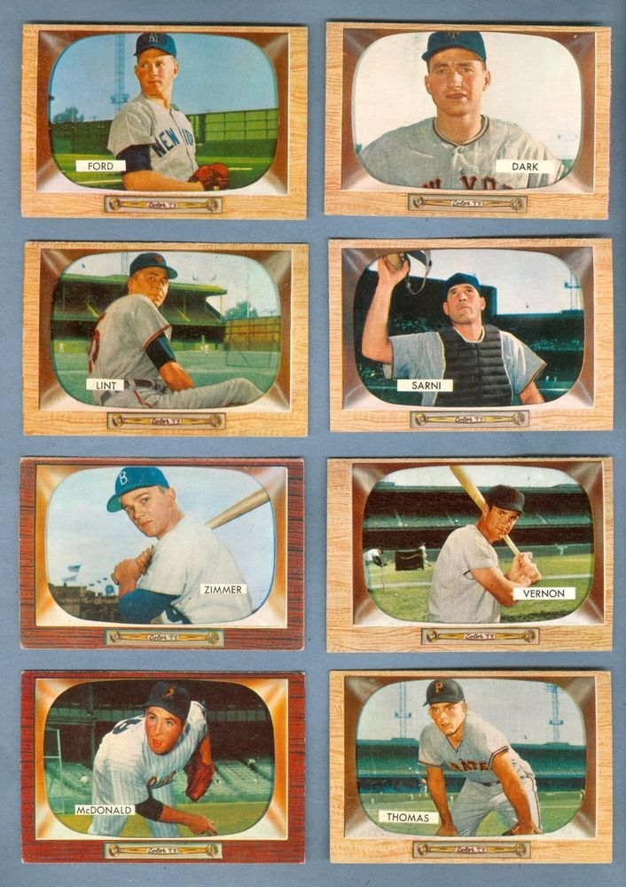 Lot Of 26 Different 1955 Bowman Baseball Cards Vg Vgex W Ford