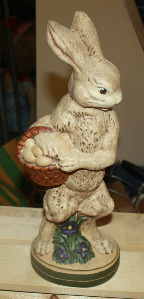 """LARGE 1997 WALNUT CREEK COLLECTIBLES RABBIT STATUE FIGURINE 17"""" FREE SHIPPING"""