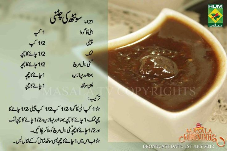 Sonth ki chatni Ramzan Recipe in Urdu Masala Mornings Shireen anwar