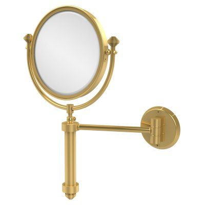 Allied Brass South Beach Wall Mounted Makeup Mirror with 2X Magnification - SB-4/2X-UNL