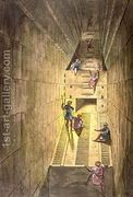 Exploration of the Great Pyramid of Giza, from Le Costume An...  by Alessandro Sanquirico