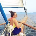 Travelling to your next destination like this is one of the reasons sailing holidays win all. Five other reasons why you need to get involved up on the blog now, clickable link in bio. Pic: @fractionsoftheworld #⚓️ #⛵️ #boatlife #yachtlife #gonesailing #holiday #travel #wanderlust #nomad #sailing #imonaboat #latergram #gullet #turkey #yoganicmoves #yogacruising #sun #sea #sail #backisthenewblack #tbloggers #travelblog #traveltips #passportstamps