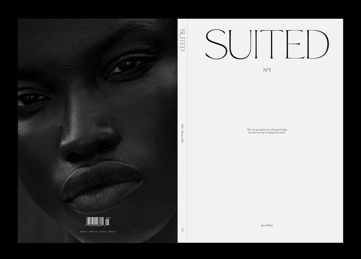 stylish and minimalist magazine layout, high end graphic design.