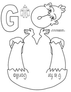 letter g g is for gorilla cut and paste letter g activities letter g activities letter g. Black Bedroom Furniture Sets. Home Design Ideas