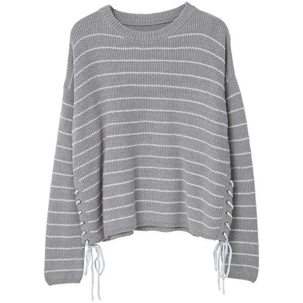 MANGO Braided Cord Sweater (290370 PYG) ❤ liked on Polyvore featuring tops, sweaters, cable-knit sweater, long sleeve cable knit sweater, long sleeve tops, cable knit sweater and round top
