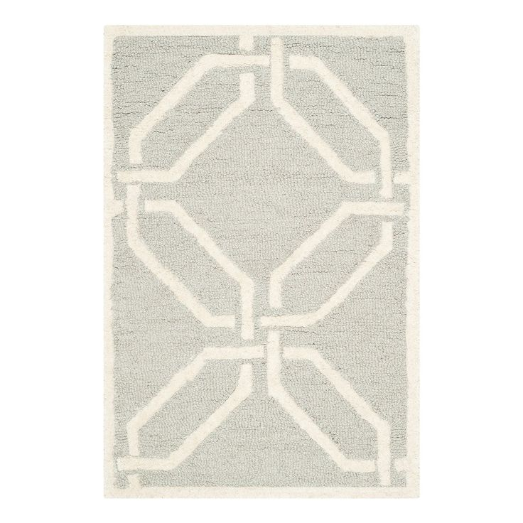 Teppich Mollie - Hellgrau - 91 x 152 cm, Safavieh
