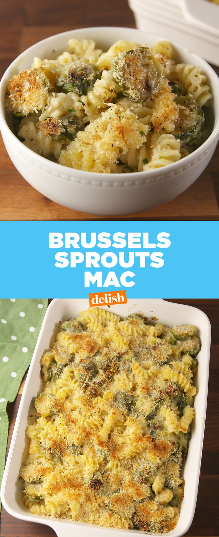 Mac 'n cheese + Brussels sprouts