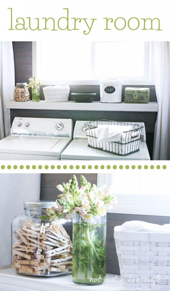LAUNDRY ROOM: How to hide electrical outlets and water lines behind your washer and dryer!