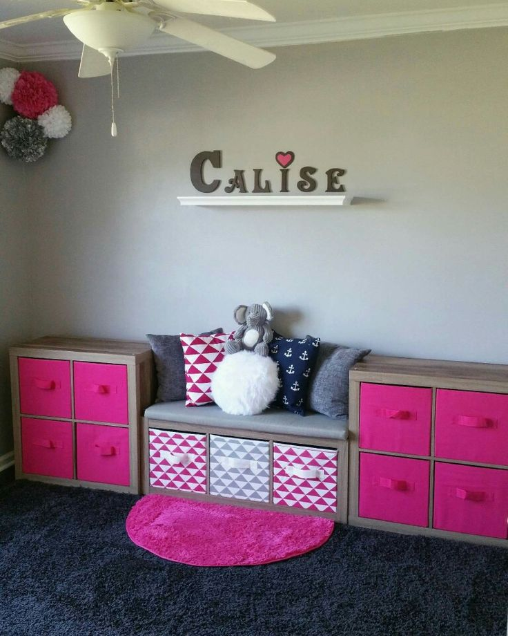 under the bay window in madisons big girl room - Kids Room Storage Bench