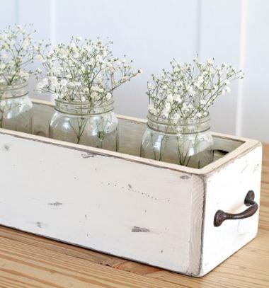 DIY vintage style wood box centerpiece (free plan) // Stílusos hosszúkás asztaldísz láda fából - vintage dekoráció // Mindy - craft tutorial collection