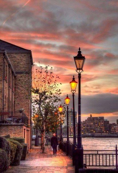 Лондон на закате, Англия / Путешествие с комфортом