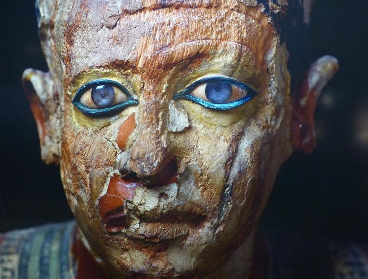 Egyptian scribe with blue eyes, Metri Old Kingdom VIth dynasty