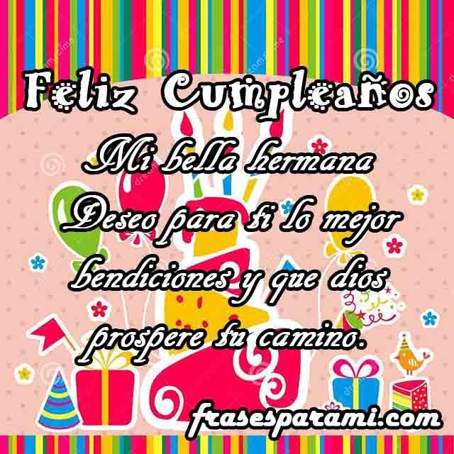 Feliz cumpleaños hermana Imagenes y Frases