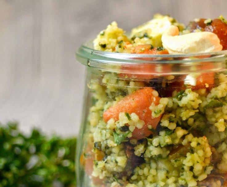 Rezept Couscous Salat mit Datteln und Feta - Leicht und lecker von Gatita82 - Rezept der Kategorie Vorspeisen/Salate