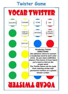 Teach123 - tips for teaching elementary school: Vocabulary Ideas