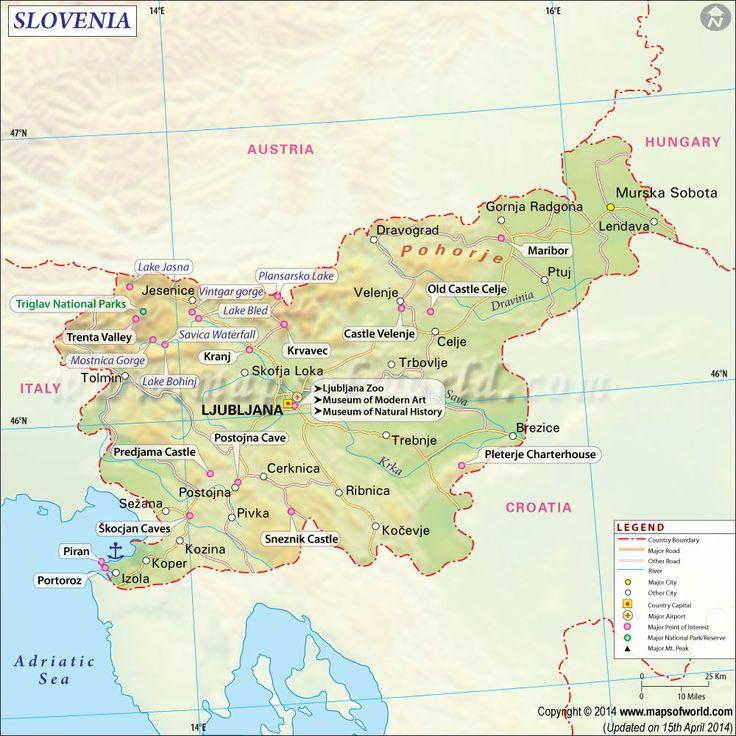 Best Map Slovenia Ideas On Pinterest Map Of Slovenia - 5 gems that make slovenia the adventure capital of eastern europe