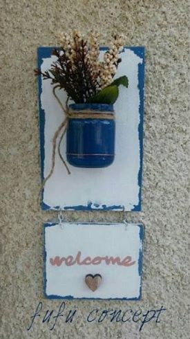 pallet sign - welcome sign