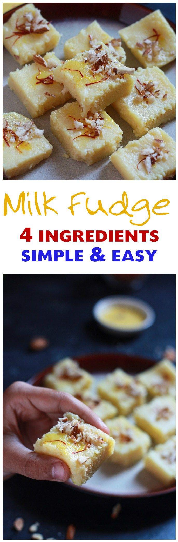 Simple Milk Powder Burfi