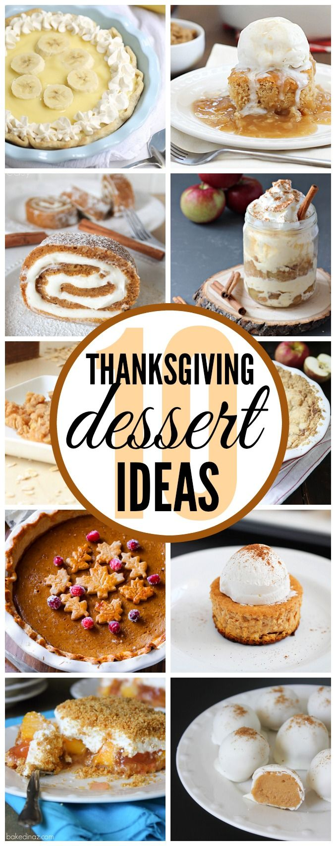 Thanksgiving Dessert Ideas - These all look easy and delicious! Click for recipes!