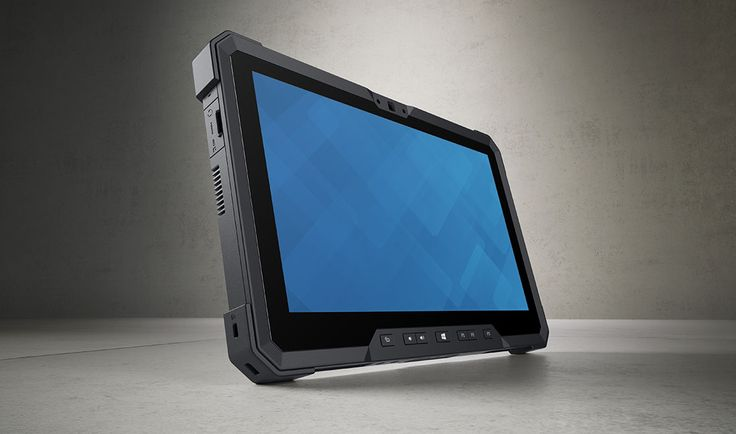 Beauty shot of a Dell Latitude 12 Rugged Tablet (Model 7202), codename Livingstone.