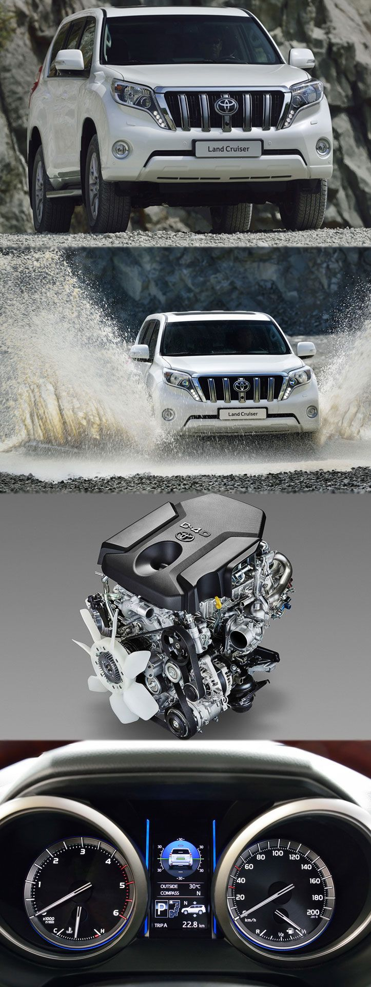 landcruiser gets 6 speed auto gearbox and new diesel engine get more