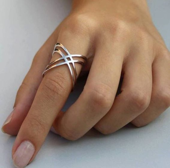 X Ring / Criss Cross Ring / 14K Gold Fill X Ring Sterling Silver X Ring / Thin… found on etsy