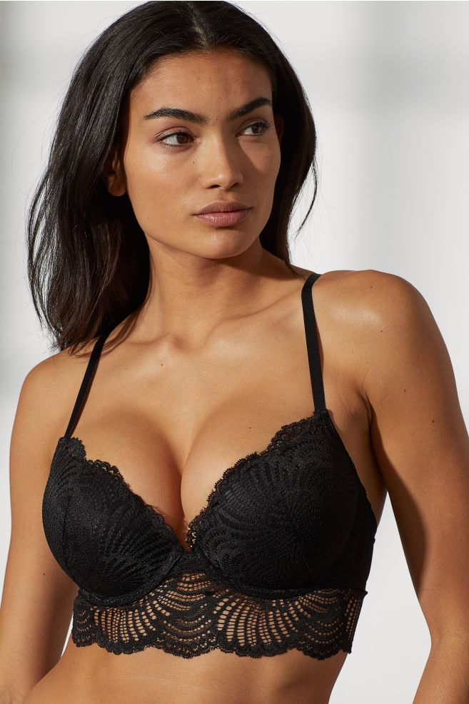 62d58e7c419 Super Push-up lace bra - Black - Ladies