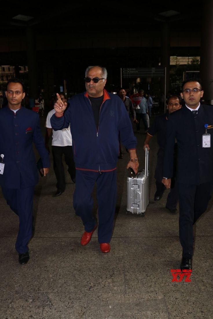 Mumbai: Boney Kapoor seen at airport - Social News XYZ