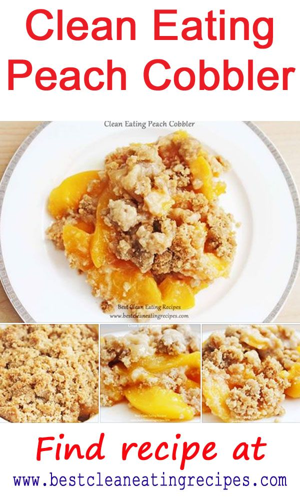 Healthy dessert recipe: clean eating peach cobbler made with organic brown cane sugar and organic brown rice flour. Enjoy the goodness! #cleaneating #healthydessert #healthyeating