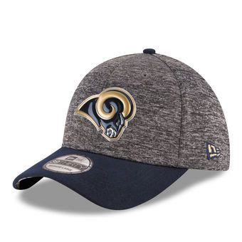 Youth Los Angeles Rams New Era Heather Gray Draft 39THIRTY Flex Hat