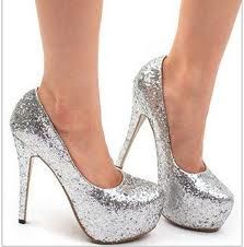 1000  ideas about Silver Sparkly Heels on Pinterest | Prom shoes