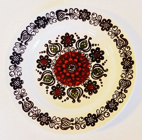1960s Broadhurst Ironstone Plate Romany by Kathie Winkle on Etsy by EdibleComplex.