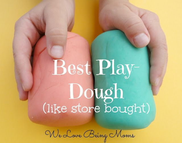 This is the best play-dough recipe.  i've tried a few i dont care for. welovebeingmoms.blogspot.com