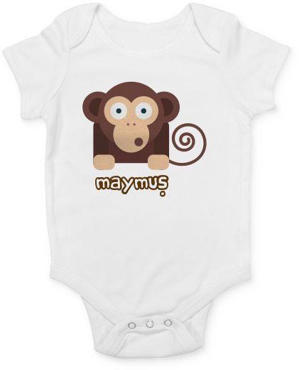 Maymun Desenli Bebek Tulum