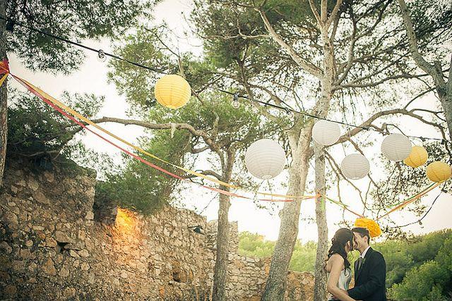 Boda al aire libre en el Castell de Tamarit, Tarragona
