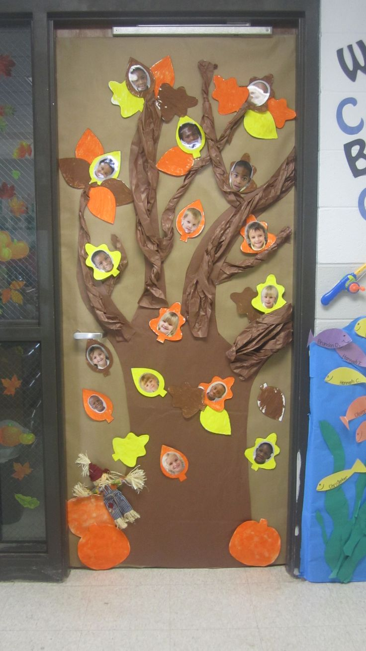 Classroom Decoration Themes 2015 ~ Fall classroom door idea decoration pinterest