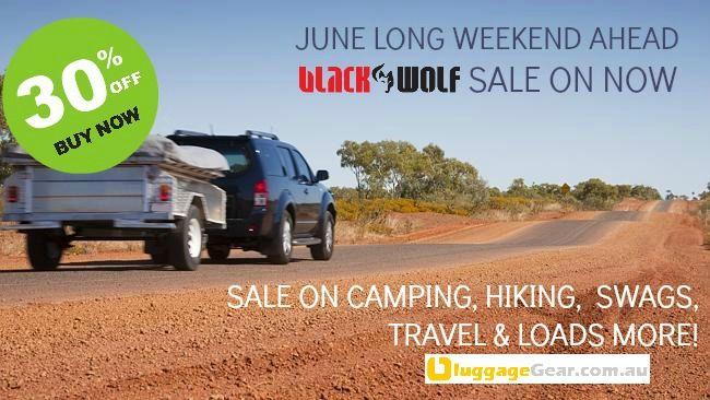 June Long Weekend is coming u want n adventure? 30% OFF ALL BLACKWOLF Gear BUY NOW at http://www.luggagegear.com.au/blackwolf/