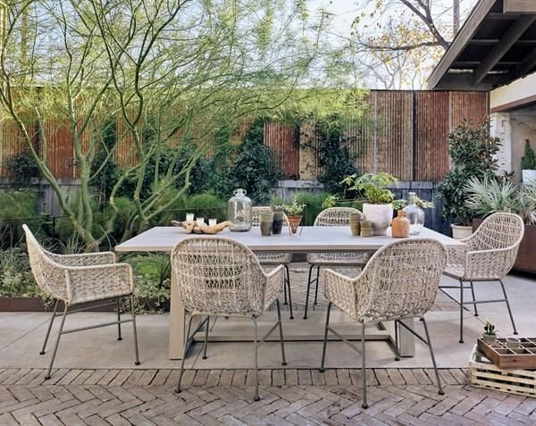 Atherton 87 Outdoor Dining Table Grey Outdoor Dining Chairs