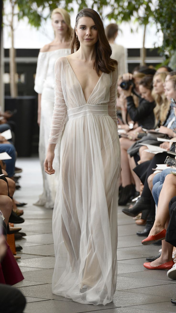 Delphine Manivet Bridal Fall 2015 via @AOL_Lifestyle Read more: https://www.aol.com/view/beautiful-bridal-gowns-fall2015/?a_dgi=aolshare_pinterest#fullscreen|slide=3024205
