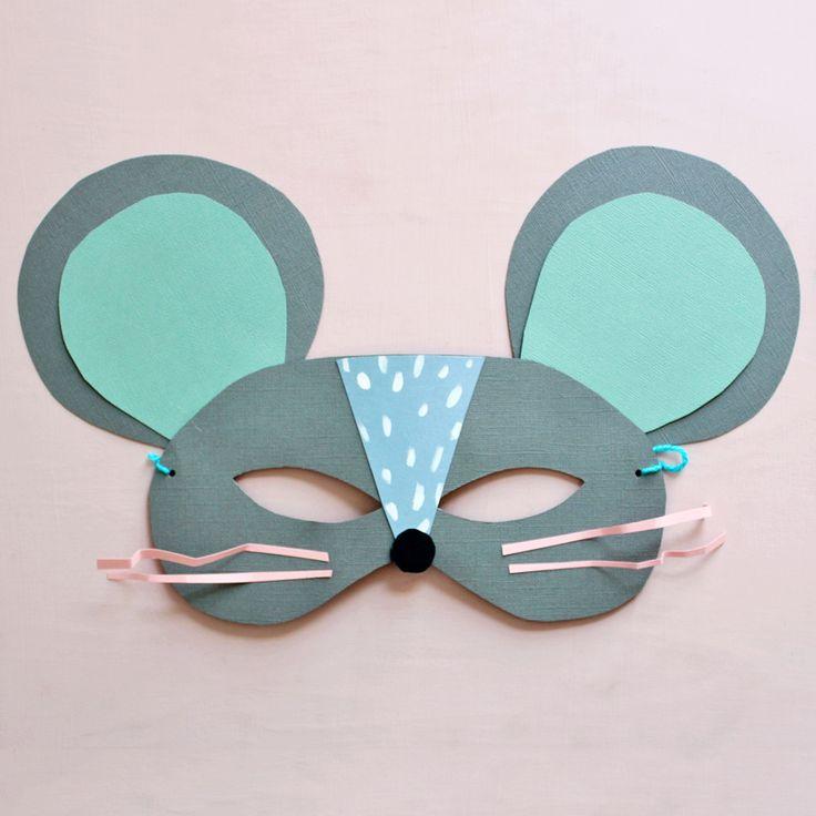 DIY: Divertidas Máscaras de Gato e Rato | e-Milk
