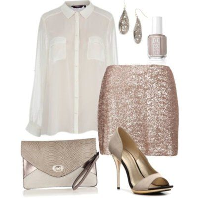Нарядная блестящая юбка new look из пайеток . На Новый Год