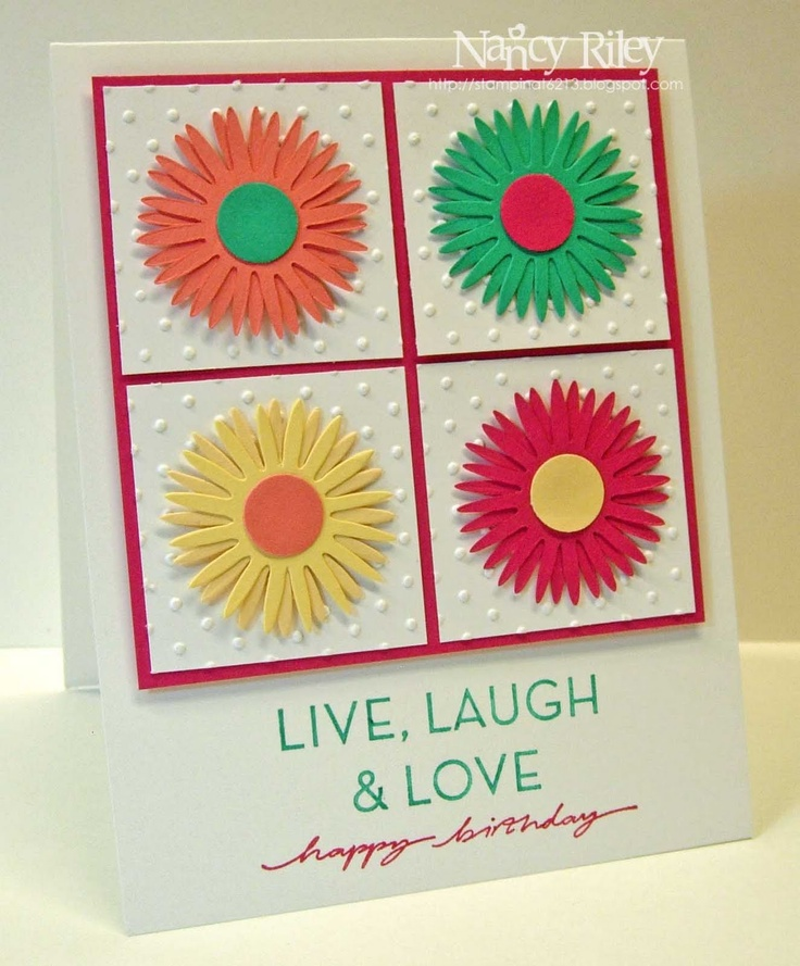 34 best images about cards sizzix die daisy on pinterest