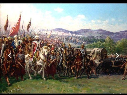 محمد الفاتح يقود جيش المسلمين في حصار القسطنطينية