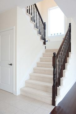 u shaped stairs colonial design - Google Search