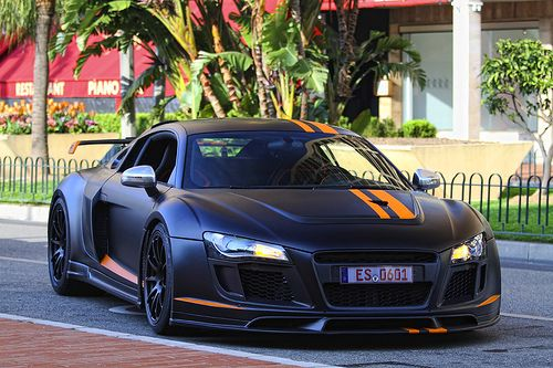 Black Amp Orange Matte Wide Body Autos Cars Audi