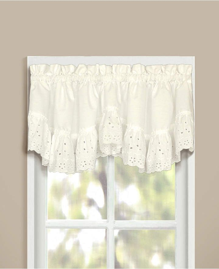 United Curtain Co Inc Vienna 60 X 12 Double Crescent Valance