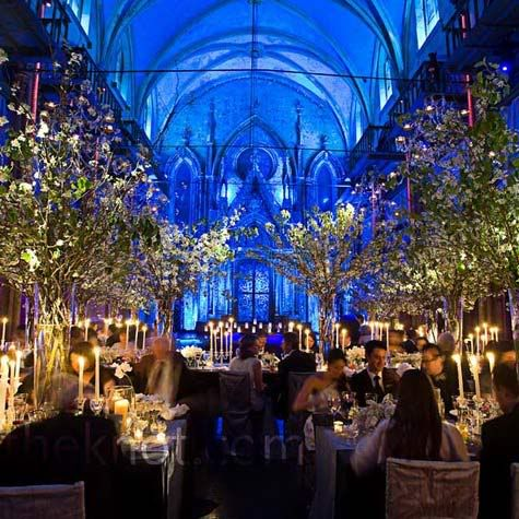 This wedding reception looks like an enchanted forest!